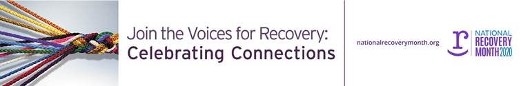 2020 Recovery Month banner
