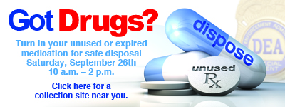 Prescription take-back day is Sept. 26