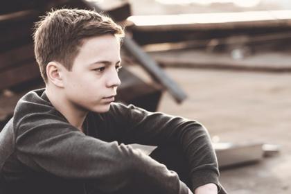 lonely teen boy