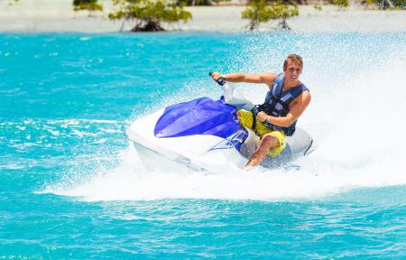 teen on jet skis