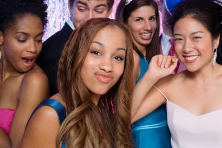 teens dancing at school dance