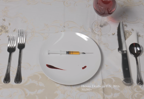 "screen shot from ""Bon Appetit"" anti-drug PSA"
