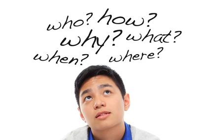 image of curious teen boy