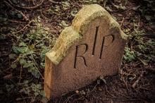 Rest in Peace written on tombstone